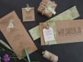 Hochzeitskarte FLORALI Papeterie mit Menükarte und Platzkarten