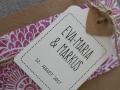 Hochzeitskarte Florali Detail Banderole FLORALI Design und Anhänger
