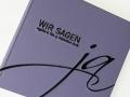 Gästebuch Hochzeit JA! in flieder