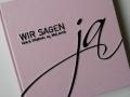 Gästebuch Hochzeit JA! in rosa