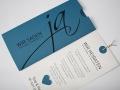 Hochzeitskarte JA! azurblau mit Texteinlage
