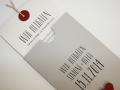 Hochzeitskarte LOFTY grau mit Texteinlage