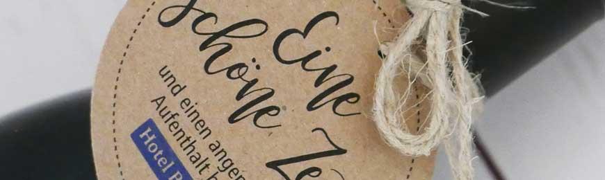 Geschenkanhänger Kraftpapier für Kundengeschenke / Give aways