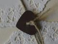 Hochzeitskarte VINTAGE elfenbein