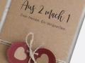 Hochzeitskarte-Kraftpapier-Zwei-Herzen-ein-Versprechen
