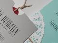 Hochzeitskarte VINTAGE in grau