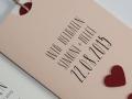 Hochzeitskarte in rosa LOFTY