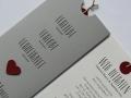 Hochzeitskarte Verliebt.Verlobt.Verheiratet. in grau