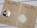 Hochzeitskarte aus Kraftpapier VERENA im DINA5 Format mit Anhänger Foto oder Stempel