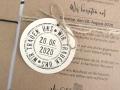 Hochzeitskarte aus Kraftpapier VERENA im DINA5 Format