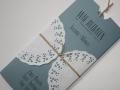 Hochzeitseinladung Hochzeitskarte Vintage bluegrey