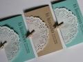 Taschentücher für Freudentränen VINTAGE mint und creme