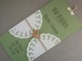 Hochzeitseinladung Hochzeitskarte Vintage grün