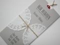 Hochzeitseinladung Hochzeitskarte Vintage grau