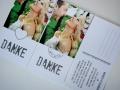 Danksagungskarte Hochzeit Postkarte