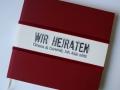 Gästebuch Hochzeit rot / Wedding Guest Book red