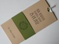 Hochzeitskarte Amira creme oliv