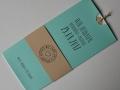 Hochzeitskarte Amira mint creme