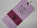 Hochzeitskarte Amira orchidee cassis