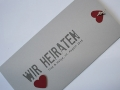 Hochzeitskarte grau / Wedding Invitation grey