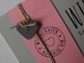Hochzeitskarte FELINA grau pink