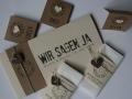 Hochzeitskarte Felina elfenbein braun