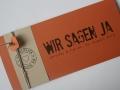 Hochzeitskarte FELINA mandarin creme