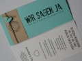 Hochzeitskarte FELINA mint creme