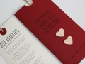 Hochzeitskarte rot / Wedding Invitation red