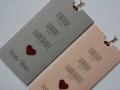 Hochzeitskarte rosa und grau