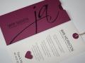 Hochzeitskarte cassis