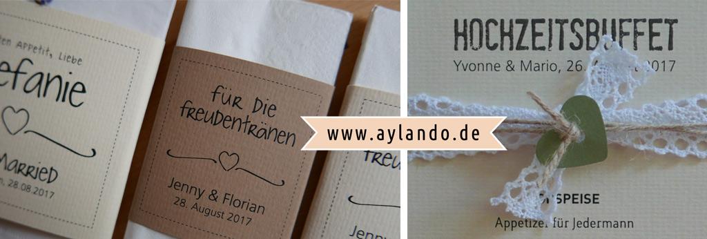 Aylando Hochzeitskarten Handgemachte Hochzeitseinladungen