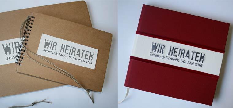 Gästebücher diverse Ausführungen und Farben
