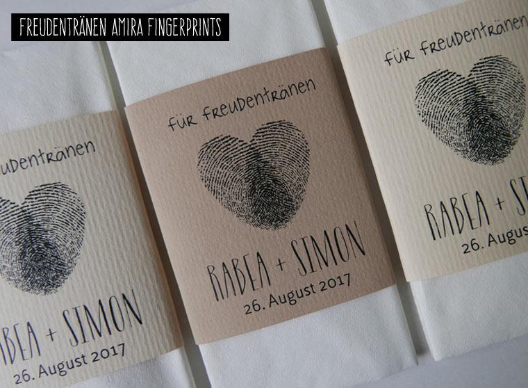 Taschentücher für Freudentränen AMIRA mit Fingerprint