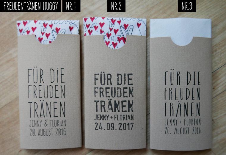 Taschentücher für Freudentränen HUGGY