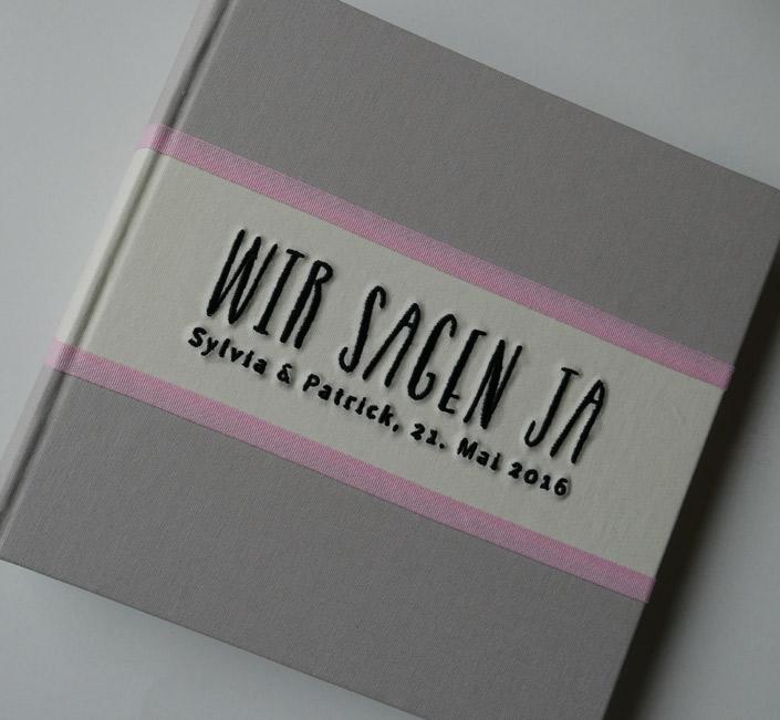 Foto Gästebuch FELINA oder Be Pure in grau/pink