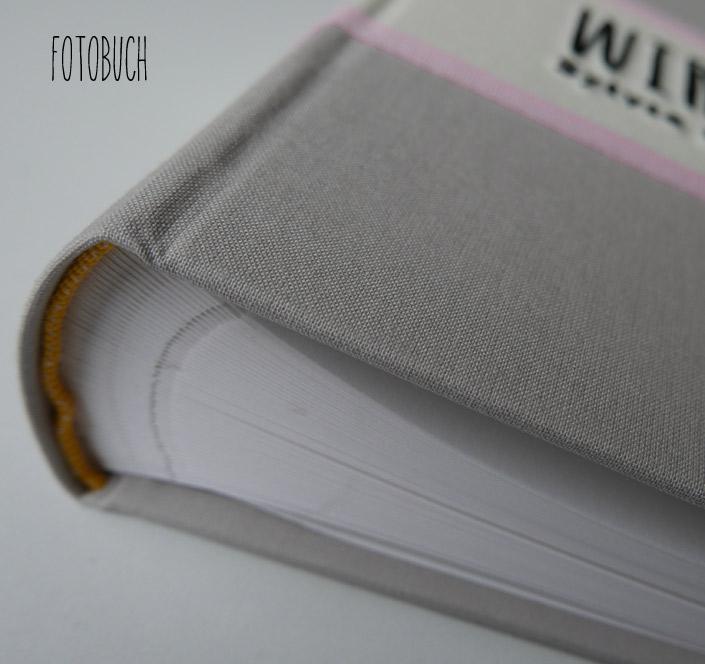 Foto Gästebuch FELINA oder Be Pure in grau/pink als Fotobuch
