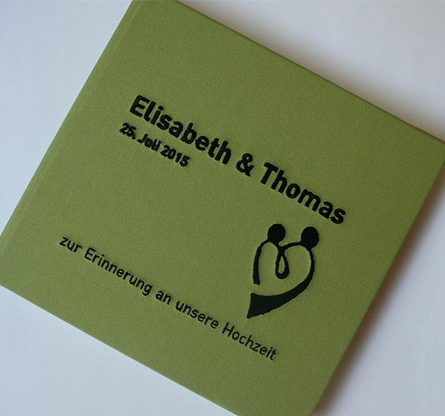 Hochzeit Gästebuch grün Sonderanfertigung