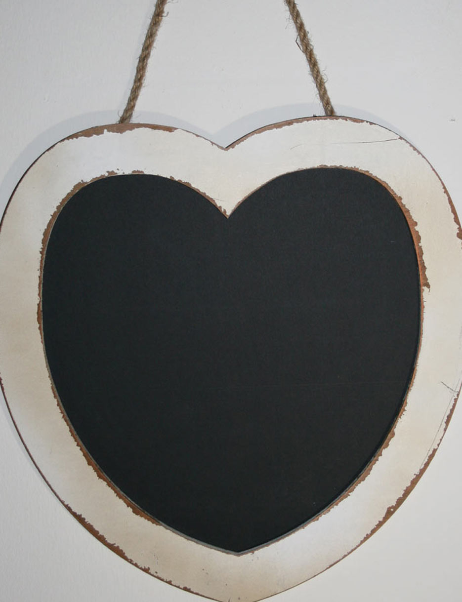 Herztafel für Ihre Hochzeitsdeko im Used Look