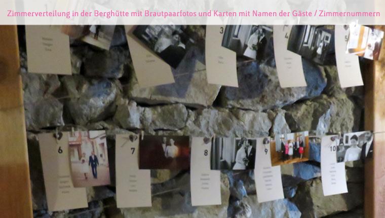 Ramona & Christoph Hochzeit in den Bergen. Finde deinen Tisch!