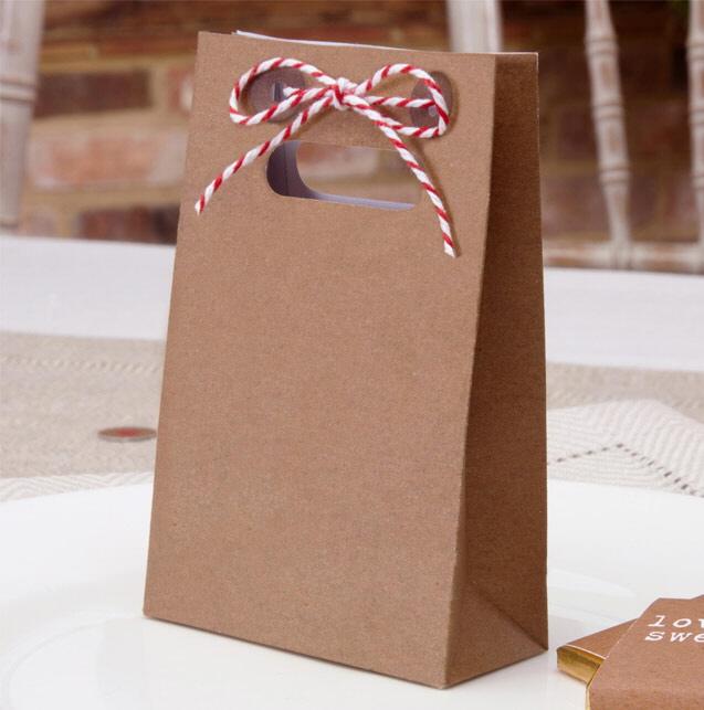 Geschenktüte -  Hochzeitsdeko im Kraftpapier-Look