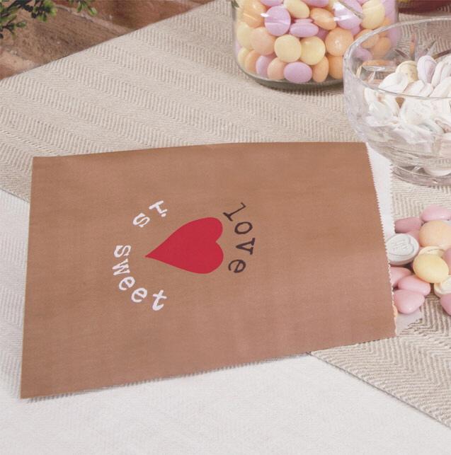 Papiertüten - Hochzeitsdeko im Kraftpapier-Look