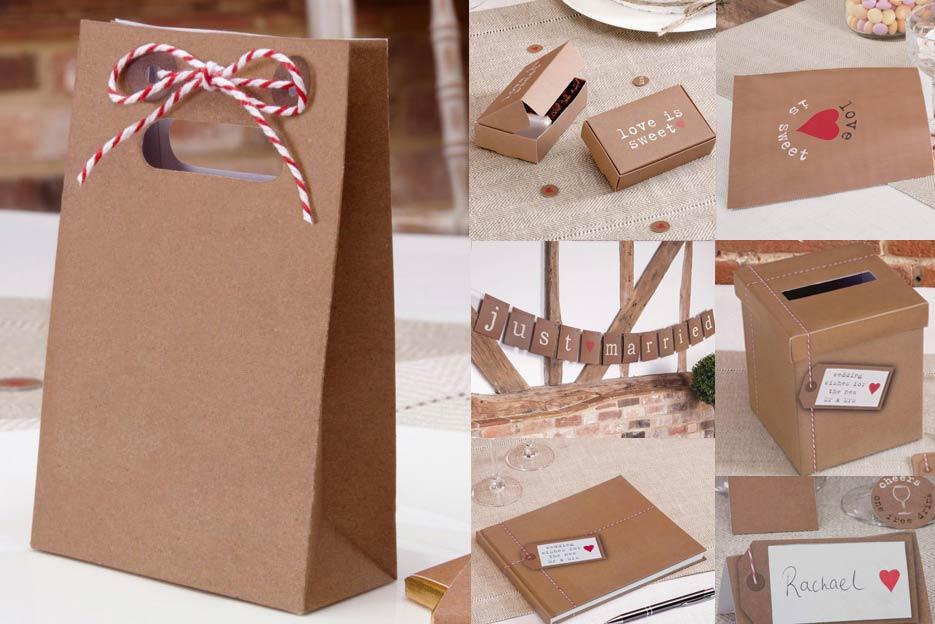 Kraftpapierlook-Hochzeitsdeko