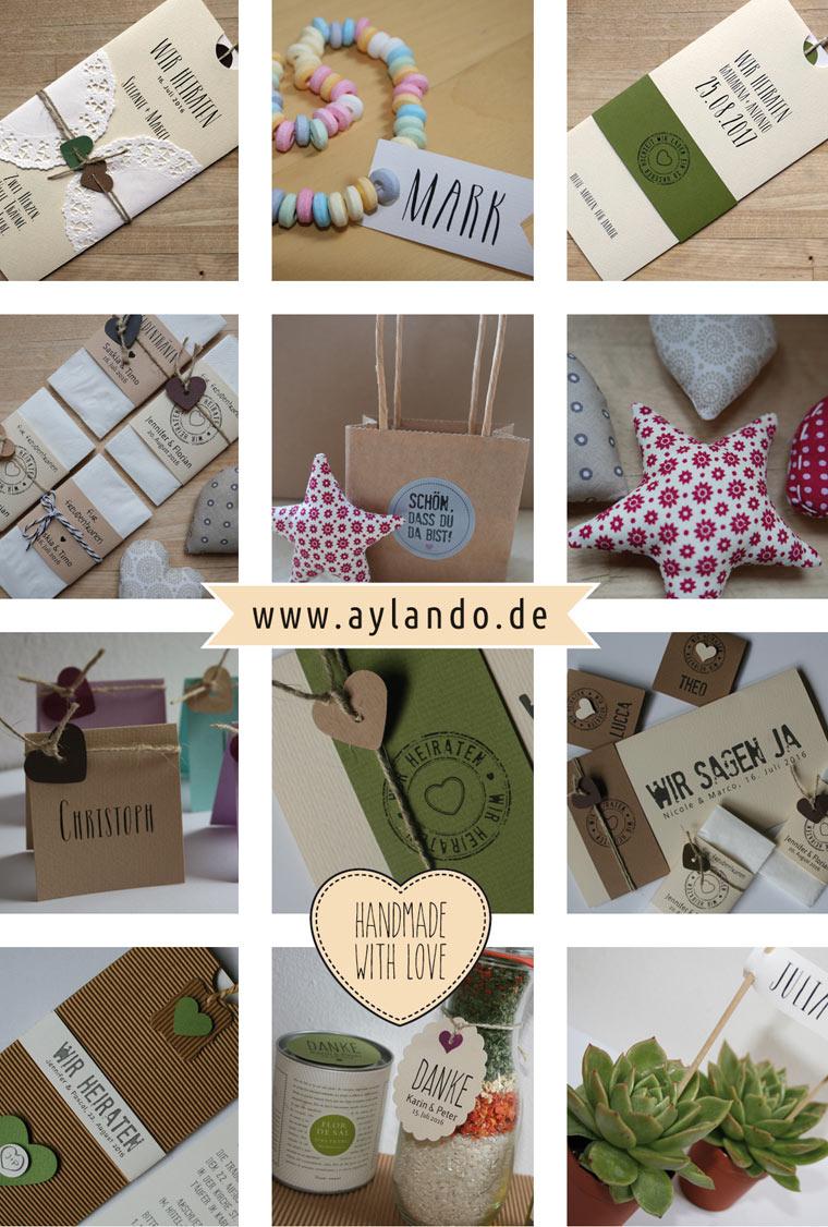 Hochzeitskarten I Einladungskarten zur Hochzeit / handgefertigte Unikate / Collage