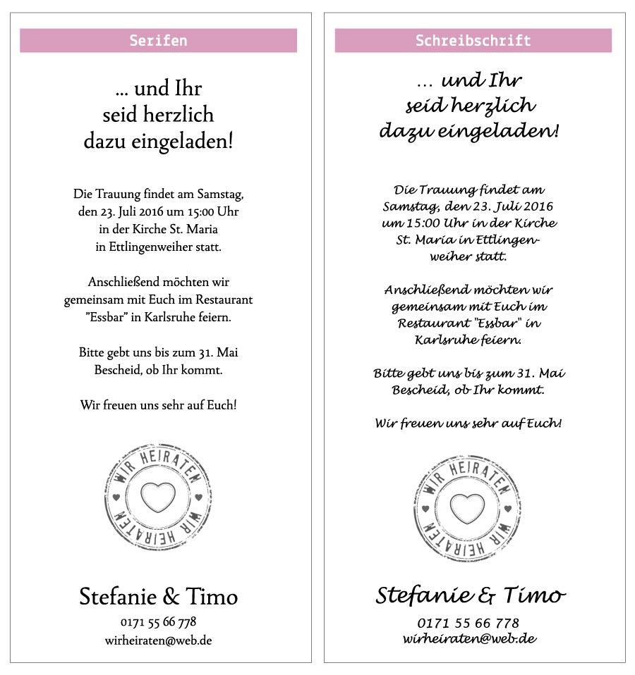 Texte Und Schriften Aylando Hochzeitskarten