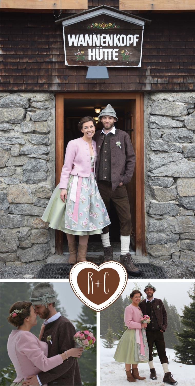 Danksagungskarte Hochzeit mit Fotocollage