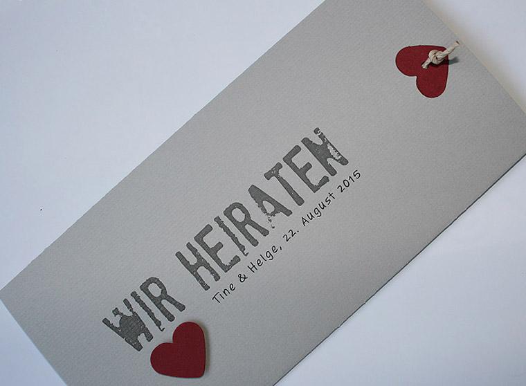 Hochzeitskarte grau Be Grey No.1