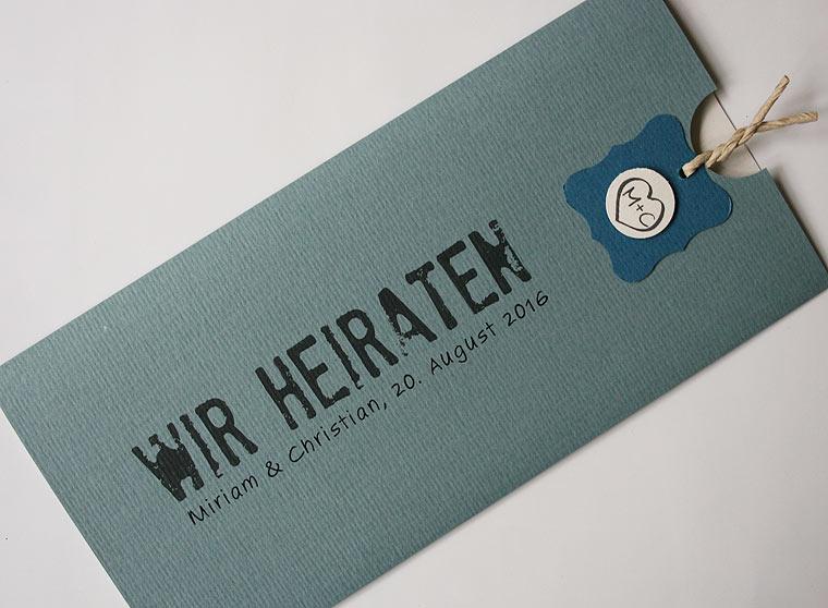 Hochzeitskarte bluegrey BeGrey2