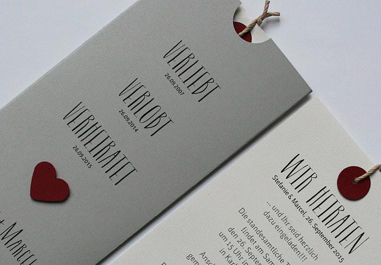 Hochzeitskarten Verliebt.Verlobt.Verheiratet.