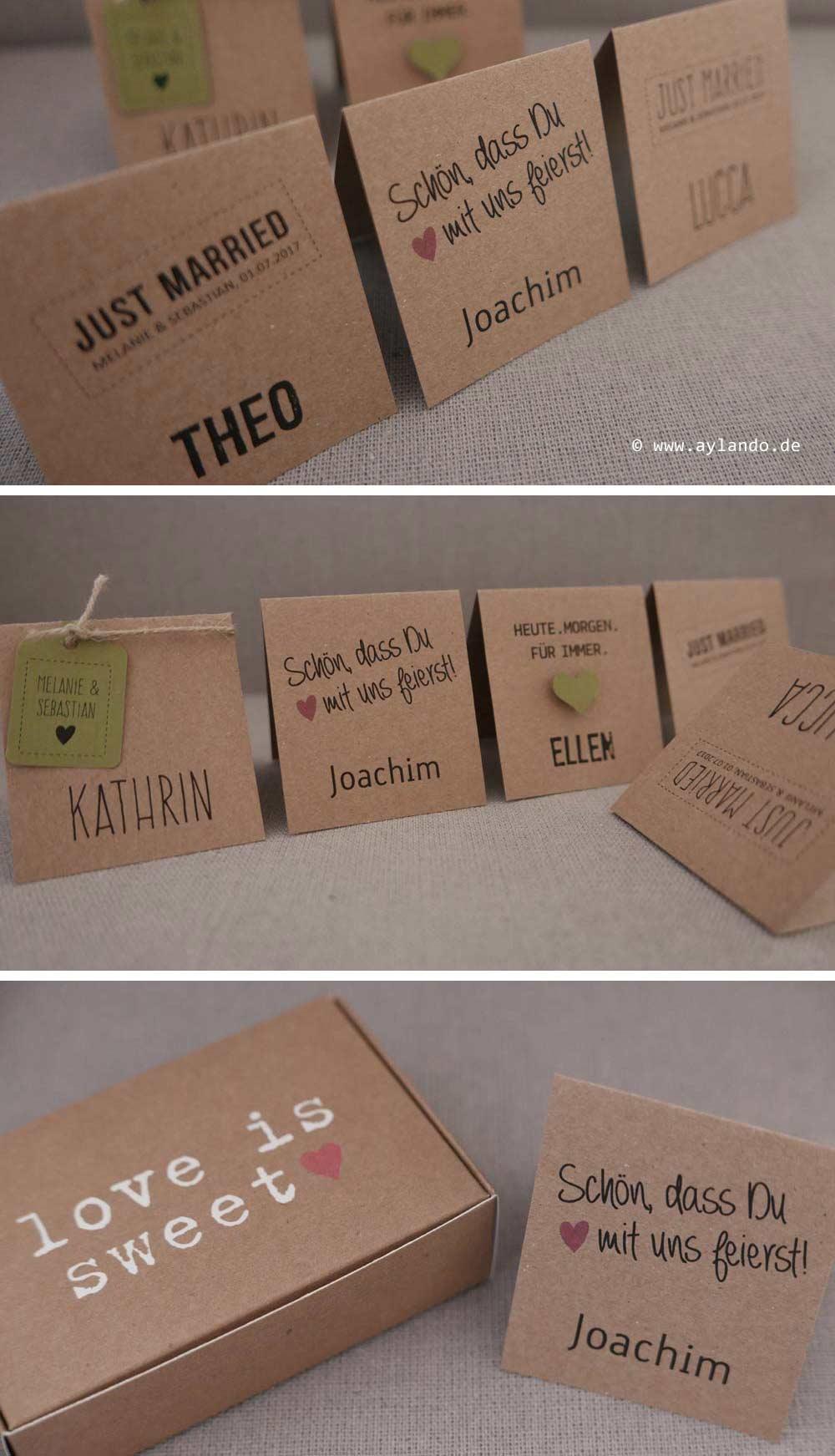 Platzkarte aus Kraftpapier HEAVN - diverse Ausführungen möglich